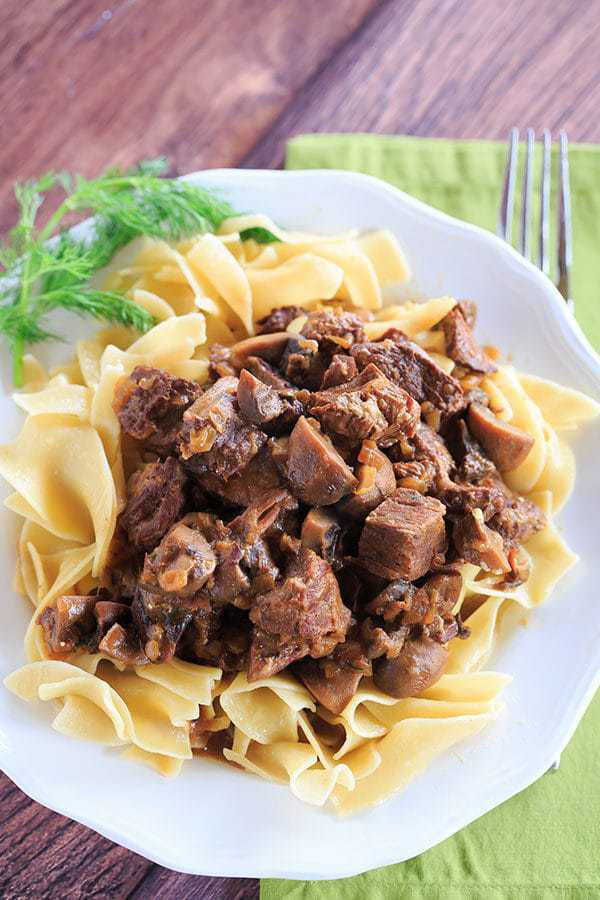Slow Cooker Beef Stroganoff - Wonderfully tender beef in a rich and flavorful sauce. | browneyedbaker.com