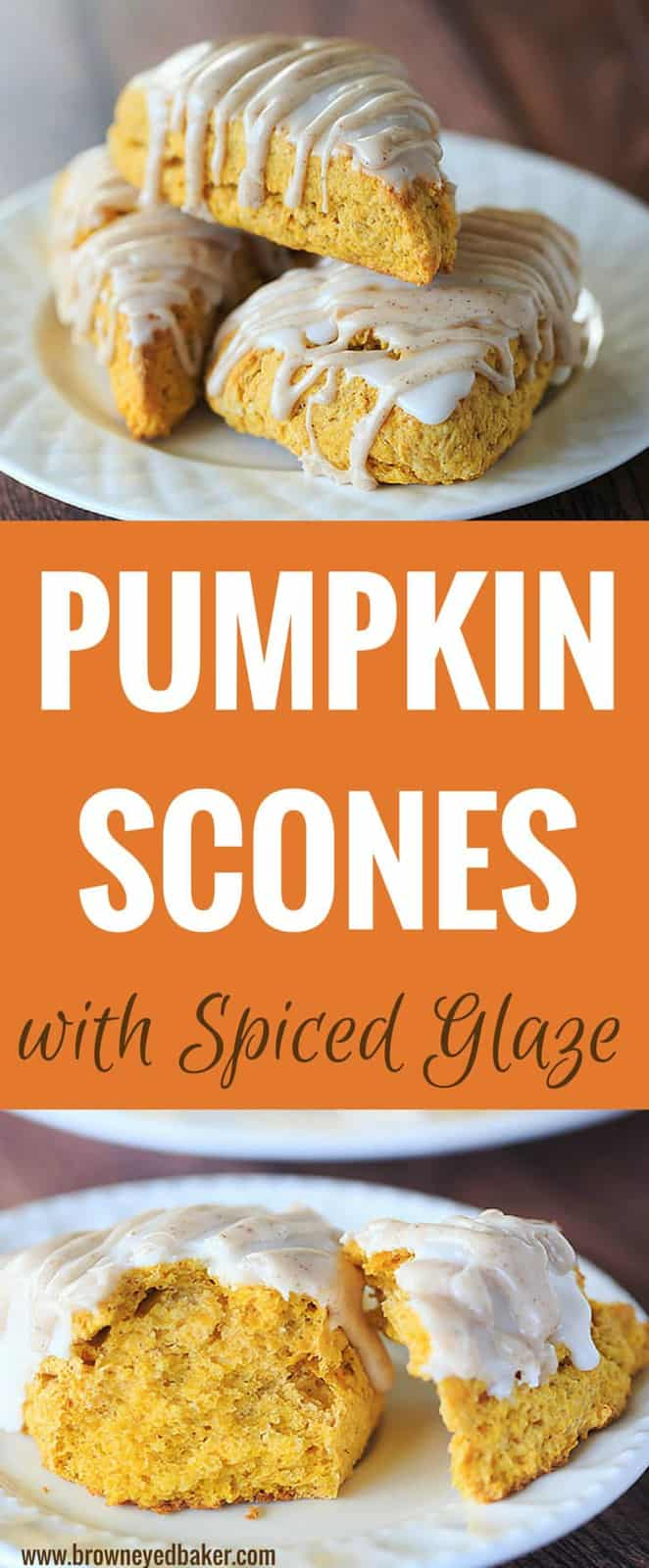 Pumpkin Scones with Spiced Glaze - A Starbucks copycat!