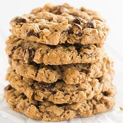Oatmeal Raisin Cookies - Recipe courtesy of Sadelle's bakery in NYC | browneyedbaker.com/sadelles-oatmeal-raisin-cookies/