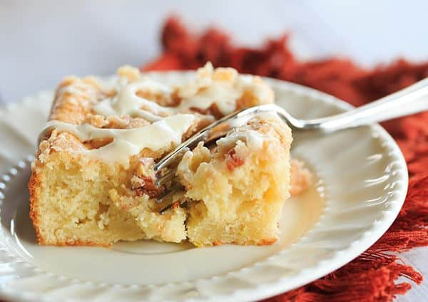 Overnight Cranberry-Eggnog Coffee Cake | browneyedbaker.com