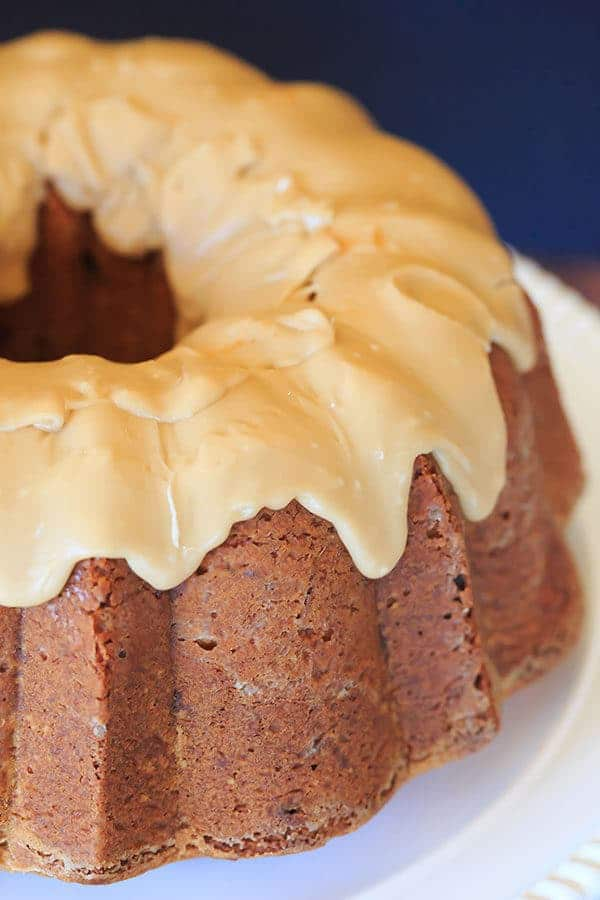 Cranberry-Pecan Pound Cake with Praline Frosting | https://www.browneyedbaker.com/cranberry-pecan-pound-cake/