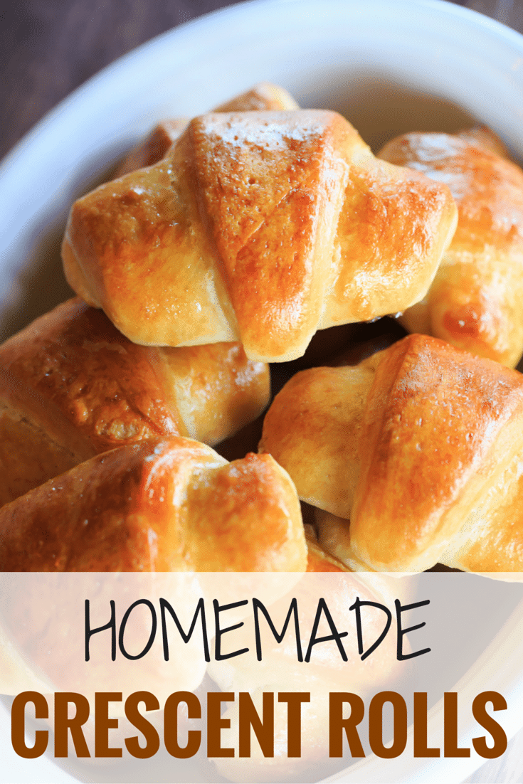 These homemade crescent rolls are flaky, buttery and easier than you'd think. They are the perfect accompaniment to any holiday meal! | https://www.browneyedbaker.com/homemade-crescent-rolls/