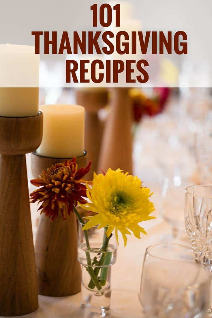 101 Thanksgiving Recipes - Breakfast/brunch, appetizers, side dishes and desserts. | browneyedbaker.com