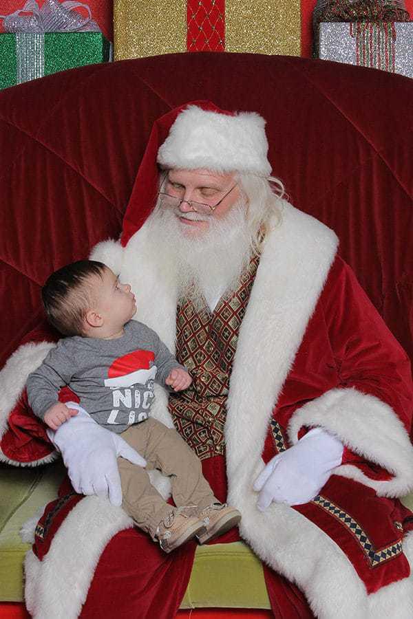Joseph with Santa!