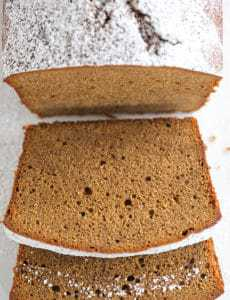This gingerbread pound cake has the texture of a classic pound cake with all of the molasses and spice flavors of a traditional gingerbread. | https://www.browneyedbaker.com/gingerbread-pound-cake/