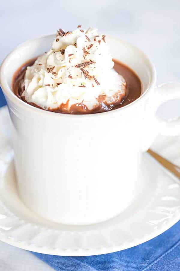 Italian Hot Chocolate (Cioccolata Calda) - The thickest, richest, most amazing hot chocolate I've ever tasted!