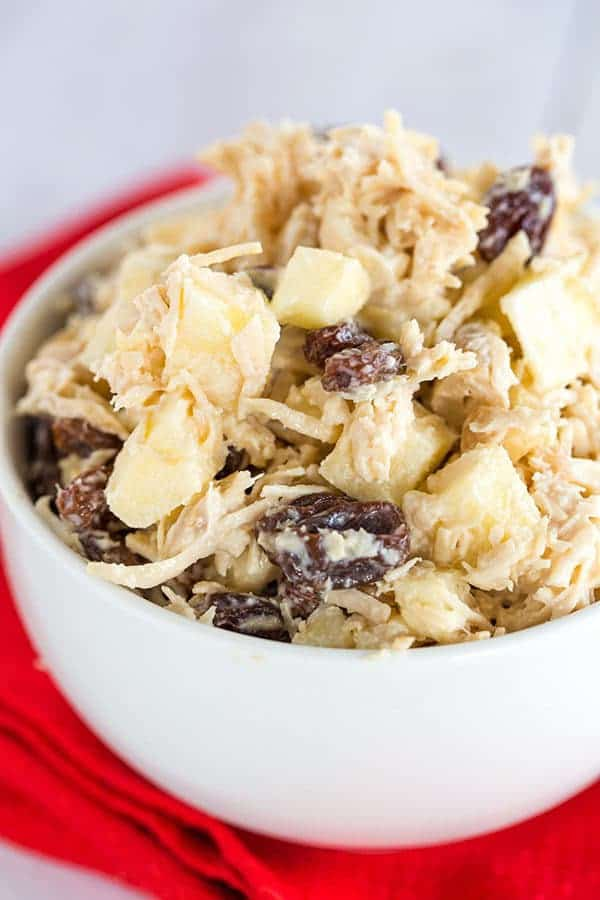 Chicken Salad with Apples, Raisins and Walnuts - An easy, delicious lunch! | browneyedbaker.com