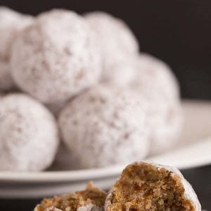 These No-Bake Snowball Cookies are gluten-free and a great Paleo dessert!   browneyedbaker.com
