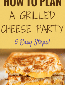 How to Throw a Grilled Cheese Party in 5 Easy Steps - Tons of suggestions for ingredients, set up and sandwich combinations!