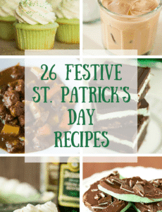 St. Patrick's Day Recipes - a festive collection of everything from breakfast, drinks, dinner and dessert. Grab a Guinness and head to the kitchen!