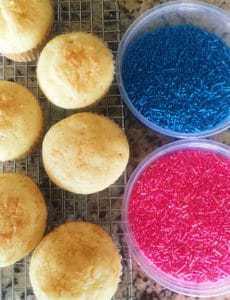 Gender Reveal Cupcakes!