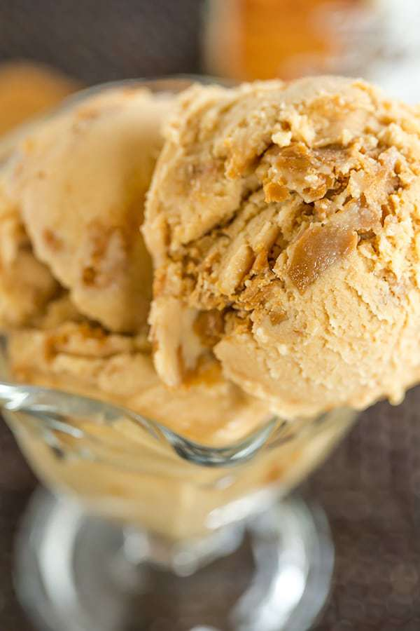 This cookie butter ice cream is a must for anyone who can't keep a spoon out of a jar of Biscoff, speculoos spread or cookie butter!
