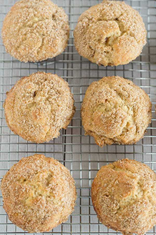 These apple-cinnamon muffins pack a huge apple flavor thanks to apple cider and chopped apples, with a fabulous cinnamon-sugar crunch on top.