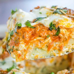 An Italian spin on traditional Greek pastitsio with layers of pasta, meat, cream sauce, and cheese. A rich recipe perfect for company!