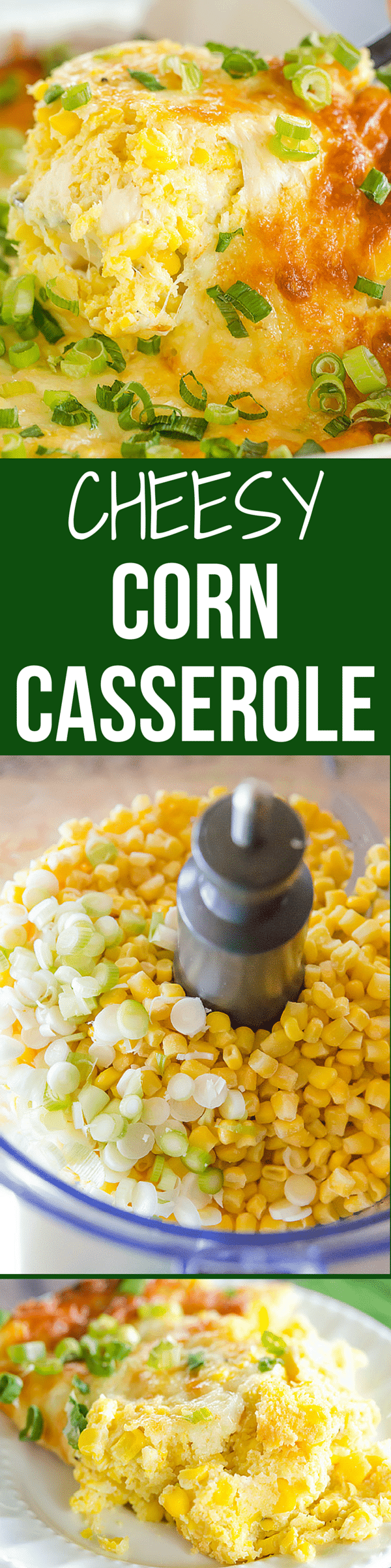 This is my best cheesy corn casserole yet - tons of corn flavor and super cheesy! Perfect for holiday side dishes or summer picnics.