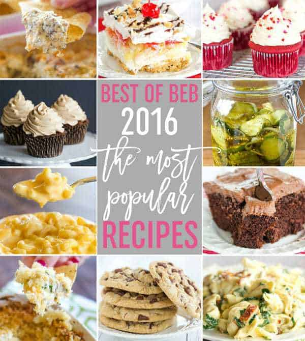 The 10 Most Popular Recipes on Brown Eyed Baker in 2016