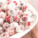 An easy recipe for sugared cranberries - a beautiful, sparkly garnish for your holiday desserts and cocktails!   browneyedbaker.com