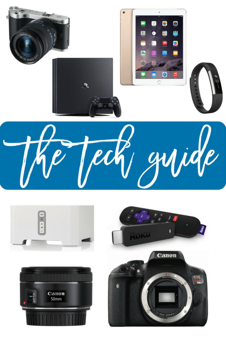 The Tech Gift Guide - Part of the 2016 Ultimate Holiday Gift Guide | browneyedbaker.com