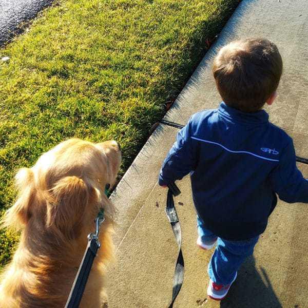 Joseph and Duke taking a stroll. | browneyedbaker.com