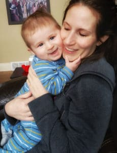 Me and Dominic - almost 5 months!