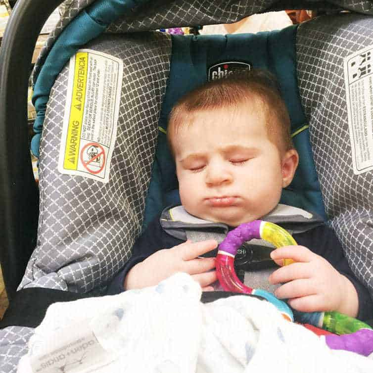 Snoozing through the grocery store