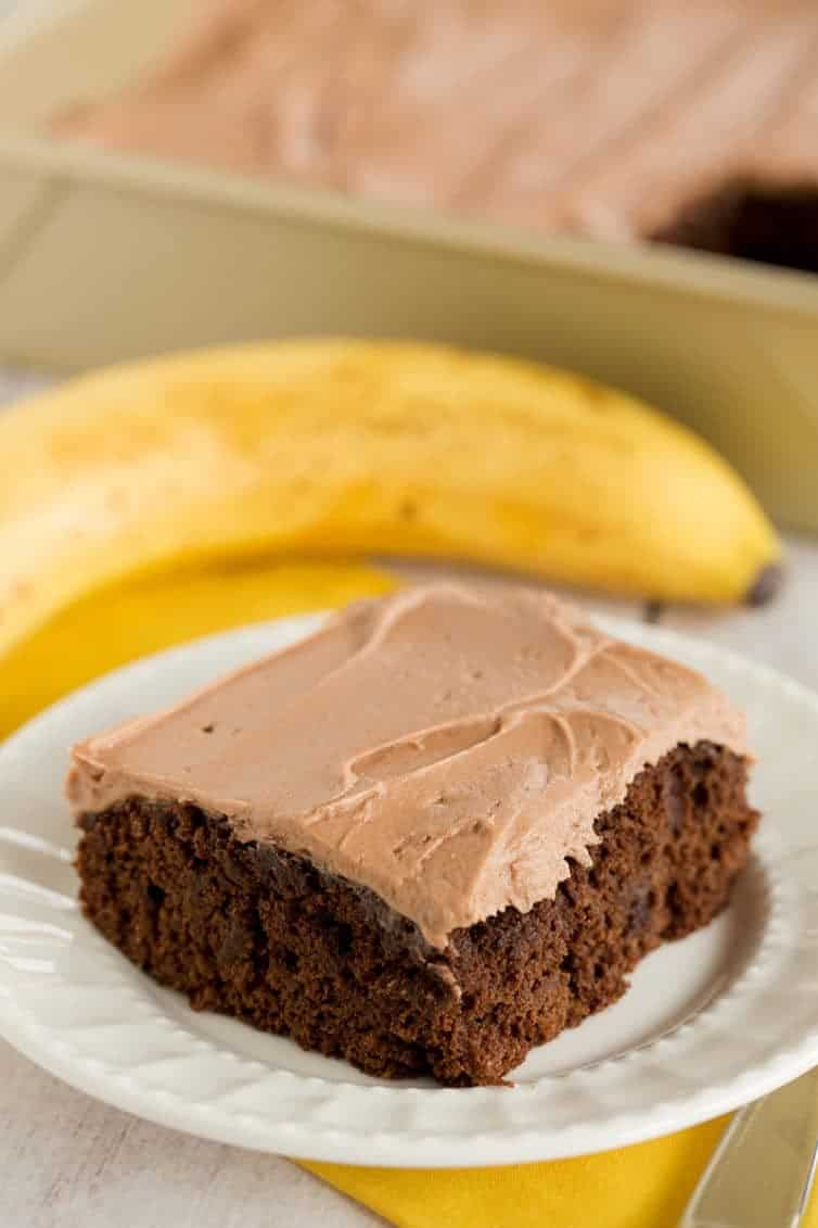 Buttermilk Chocolate Banana Cake
