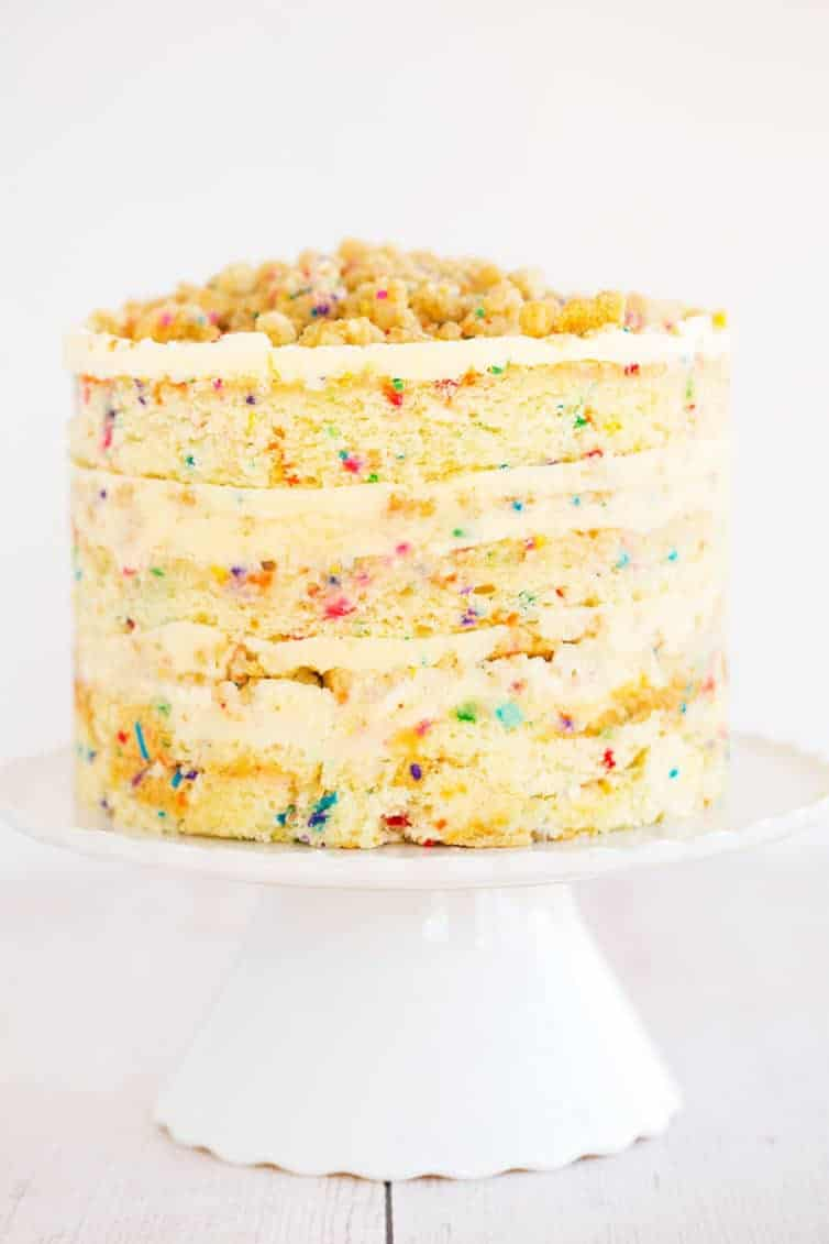 The Famous Momo U Milk Bar Birthday Layer Cake Layers Of Funfetti Cake Loaded With Sprinkles