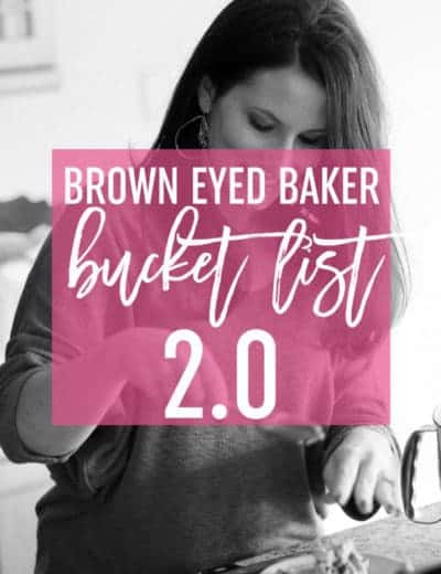 BEB Bucket List 2.0 - Come cook and bake along with me!