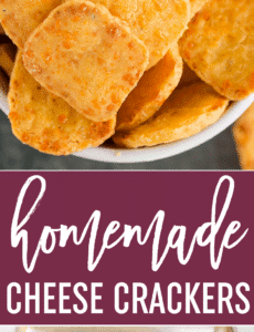 Spicy Southern Cheese Crackers - Easy homemade cheese crackers that are super buttery and have a spicy kick!