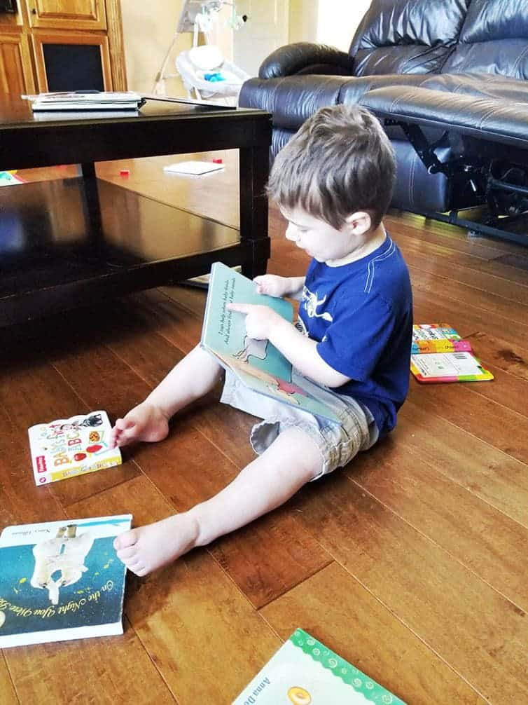 Joseph reading to himself