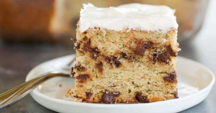 Banana-Chocolate Chip Snack Cake | Brown Eyed Baker
