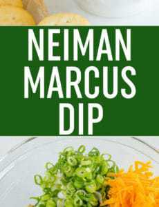 Neiman Marcus Dip is inspired by a dip served at their restaurants; a super easy combination of bacon, cheese, scallions, almonds, mayo and hot sauce... Ready in just 15 minutes!