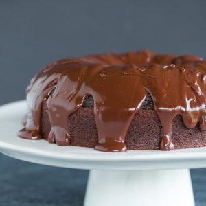 Grammy Cake - An old-fashioned chocolate cake with chocolate ganache.