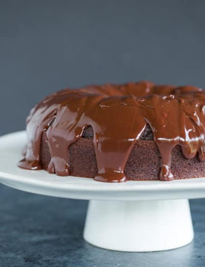 Grammy Cake - An old-fashioned chocolate cake with chocolate ganache.