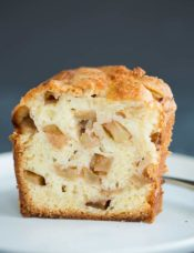 A beautiful slice of Jewish Apple Cake
