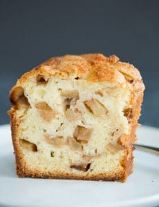 A beautiful slice of Jewish Apple Cake