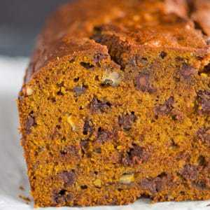 Pumpkin Bread with Chocolate Chips & Pecans | Brown Eyed Baker
