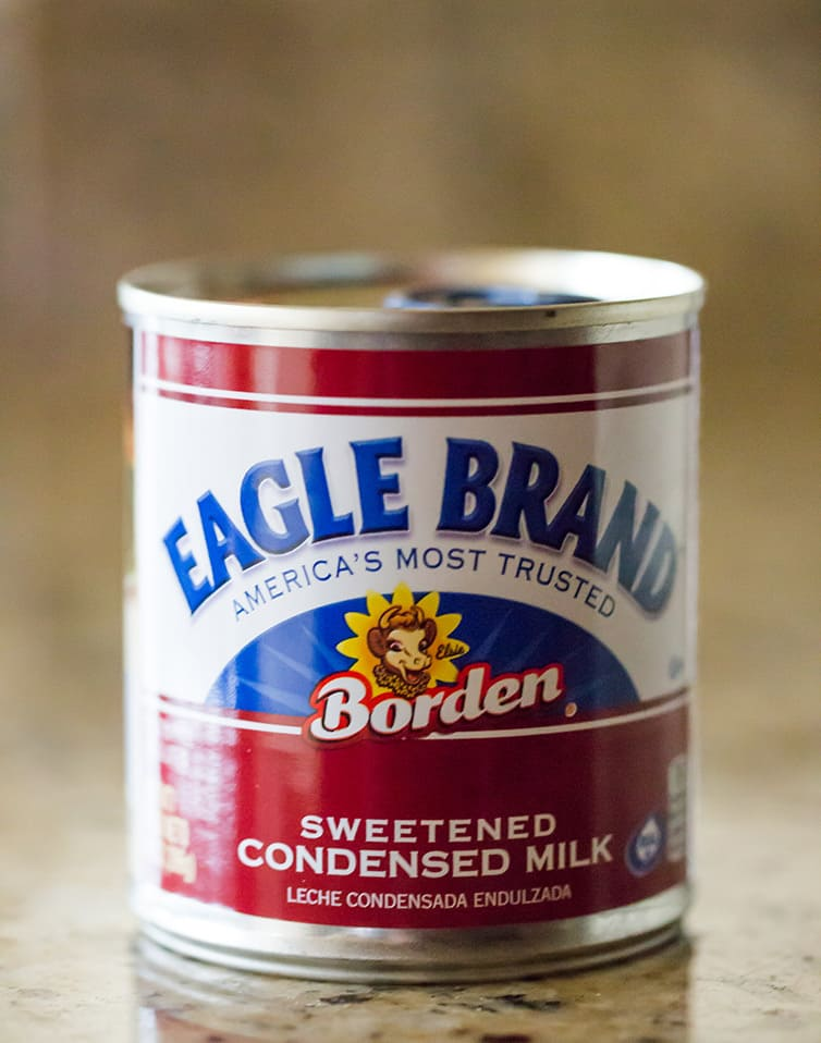 Eagle Brand sweetened condensed milk, ready to make magic bars!