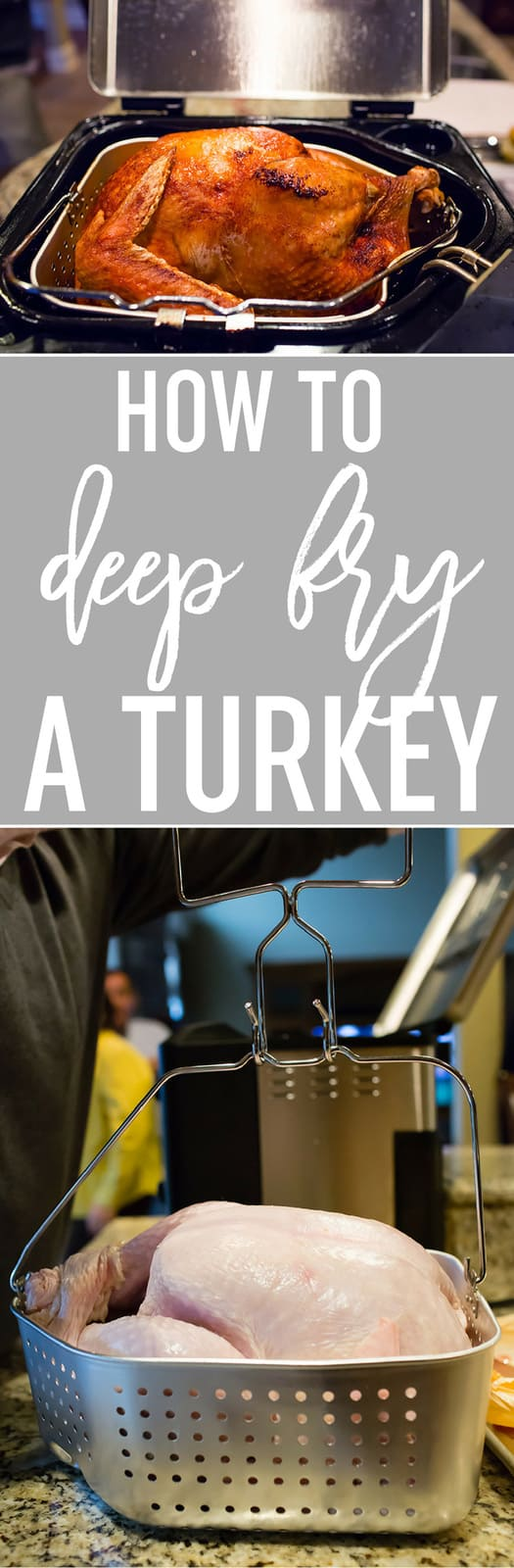 How To Deep Fry a Turkey - A comprehensive post on everything you've ever wanted to know about deep frying a turkey - the equipment, oil, brines, rubs, times, and even more tips! #thanksgiving #turkey #cooking #recipes