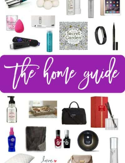 A collage of products featured in the 2017 Holiday Gift Guide: Home & Beauty