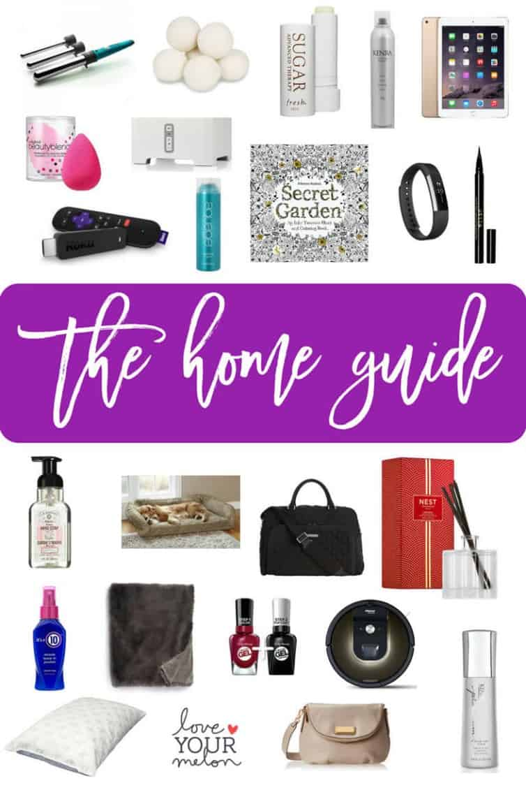 2017 Holiday Gift Guide: Home & Beauty... My top 24 picks for holiday gifts for around the home, including tech gifts and hair and makeup! Tons of different products at different price points! #holidays #christmas #giftguide #home #beauty #hair #pets #makeup