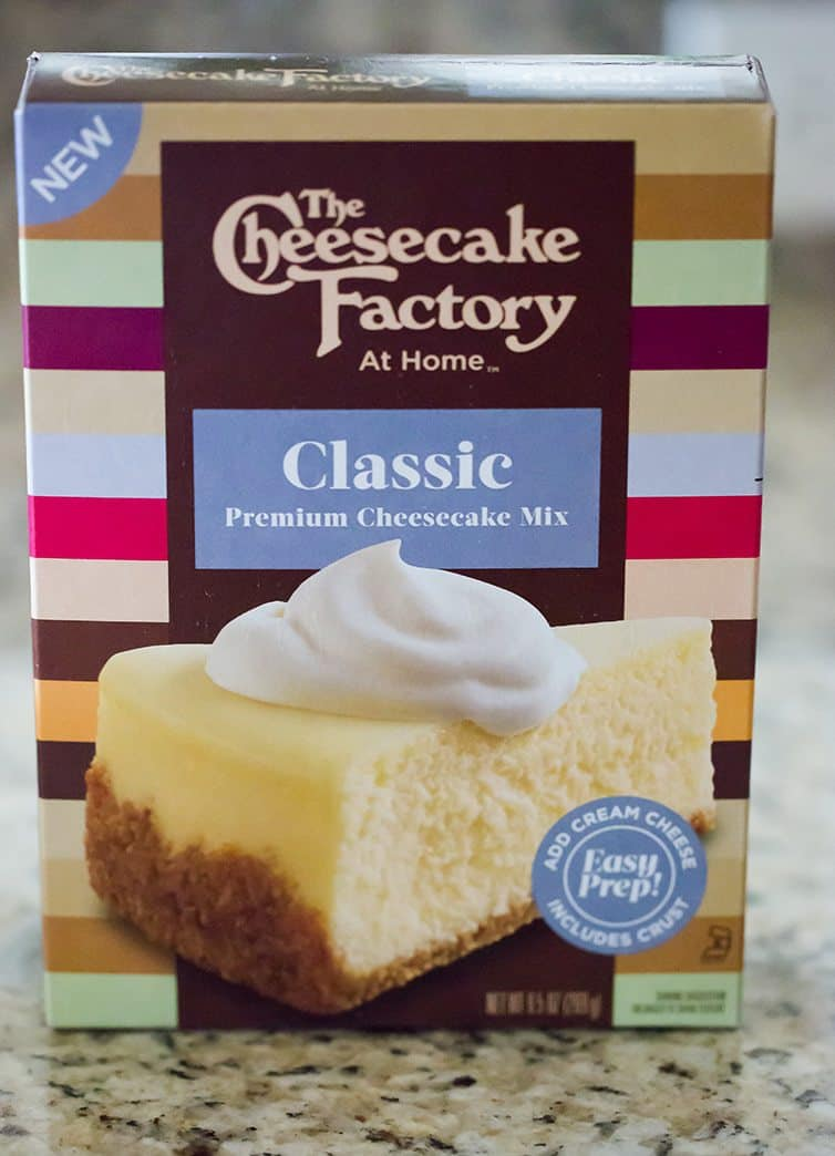 A box of The Cheesecake Factory At Home Cheesecake Mix