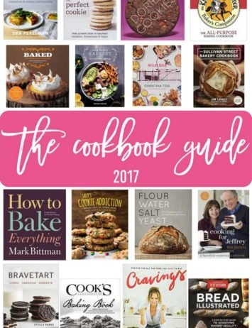 A collage of cookbooks featured in a 2017 holiday gift guide.