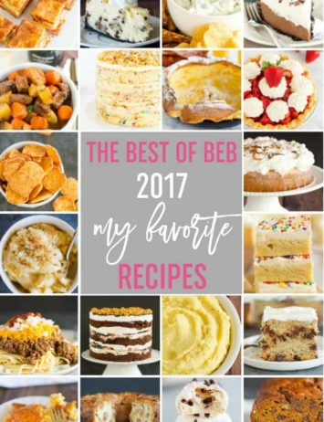 A collage of photos of the favorite recipes listed in the post.