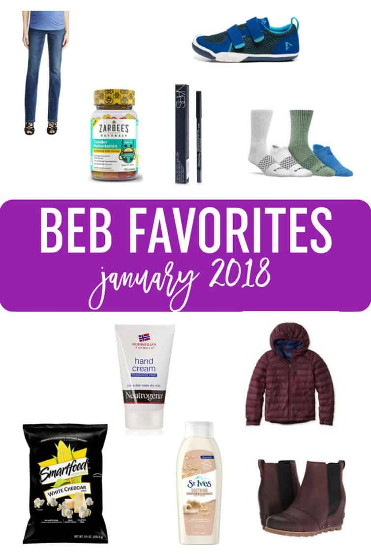 BEB Favorites - January 2018 :: A collection of favorite products, including clothes, beauty products, food, and toddler items. #giftguides #favoriteproducts