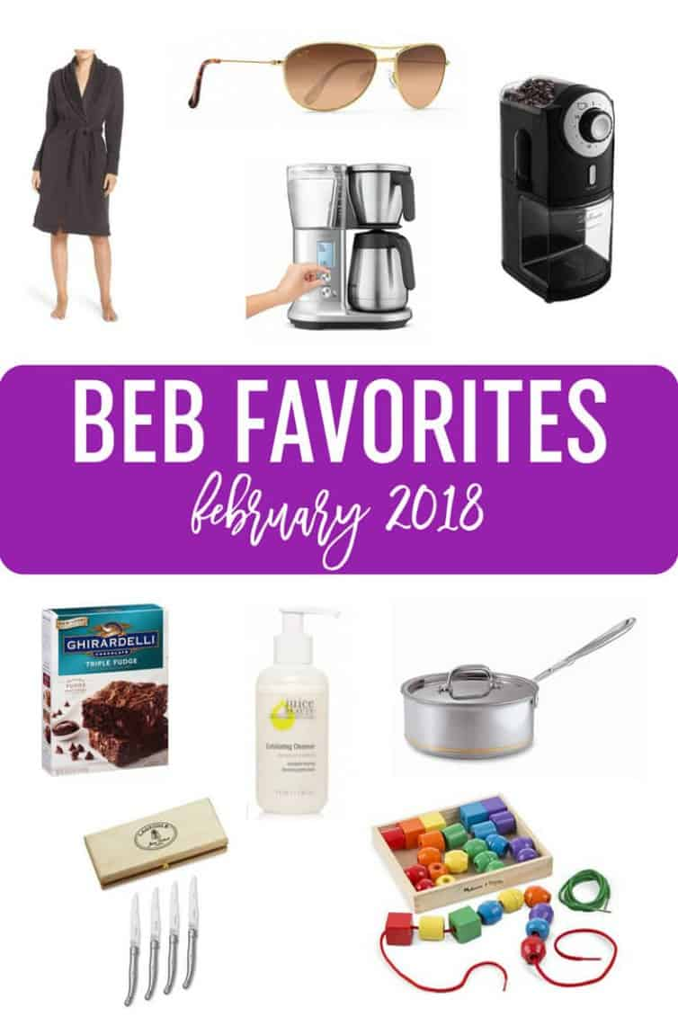 BEB Favorites - February 2018 :: A gift guide full of ideas for women, foodies, kids, and coffee lovers! #giftguide #holiday #christmas #beauty