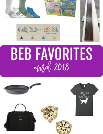 A collage of products listed in March favorites.