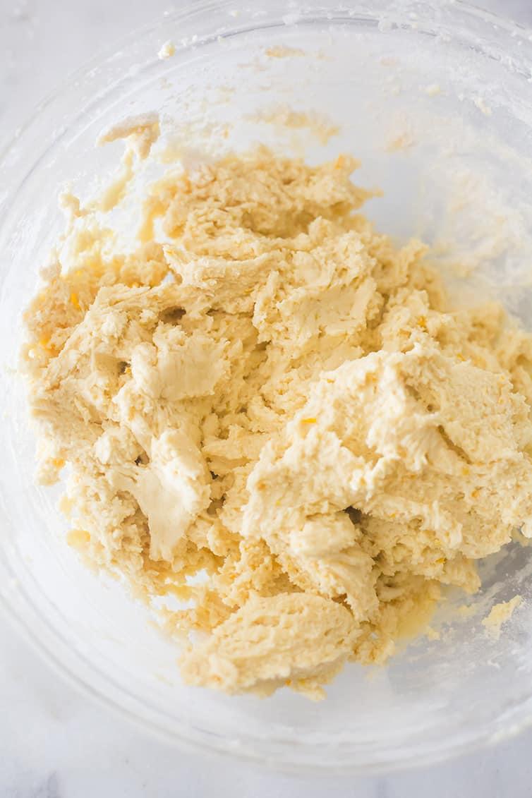 The dough for Koulourakia (Greek Easter Cookies)