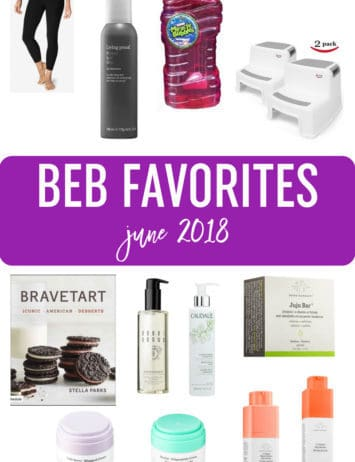 A collage of favorite products - June 2018.