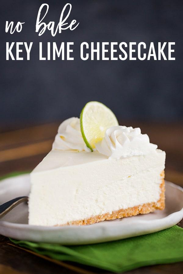 No Bake Key Lime Cheesecake :: This easy no bake key lime cheesecake with Nilla wafer crust is wonderfully refreshing and perfect for summer! #browneyedbaker #nobake #recipe #keylime #cheesecake